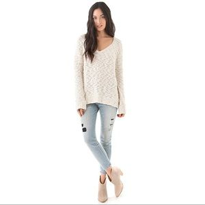 Free People Songbird Pullover in Natural